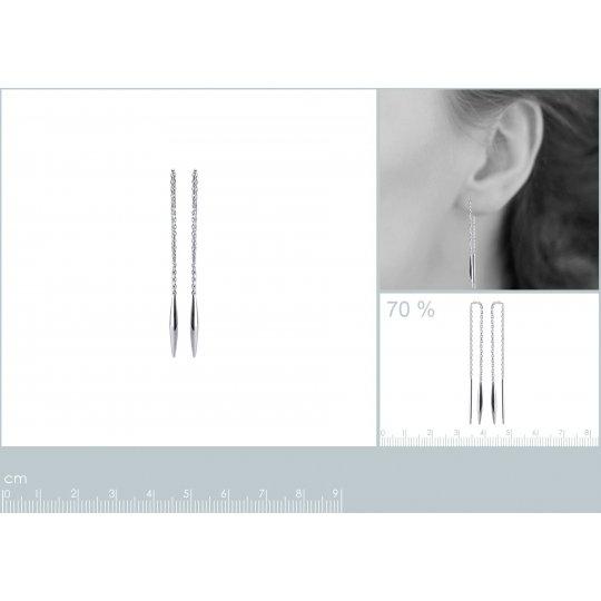 Earrings Chain traversante...