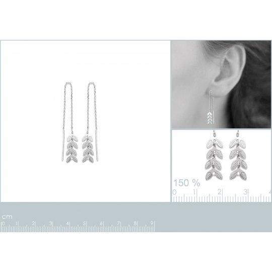 Earrings Bay leaf Chain...