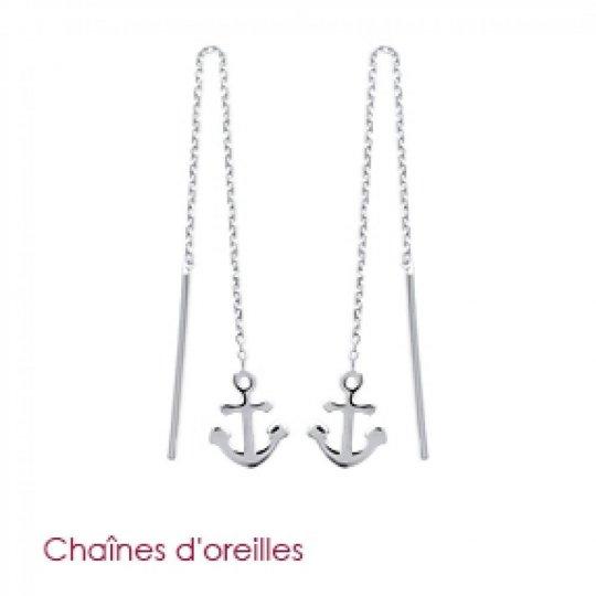 Boucles d'Oreilles Ancre...