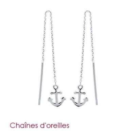 Earrings Anchor marine...