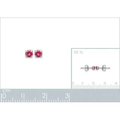 Earrings puces Tiges Argent...