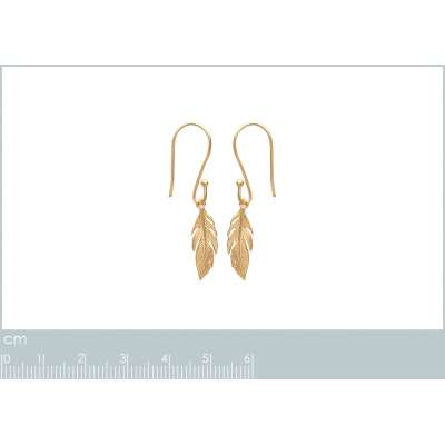 Earrings Feathers Gold...