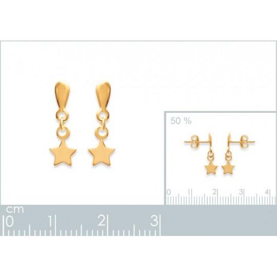 Earrings Stars  Gold plated...