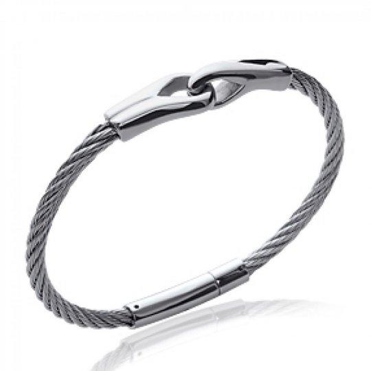 Bracelet Câble Acier 316L -...