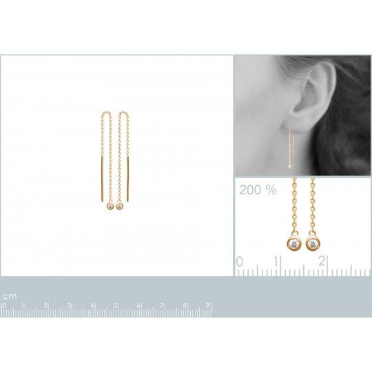 Earrings Solitaire sertis...