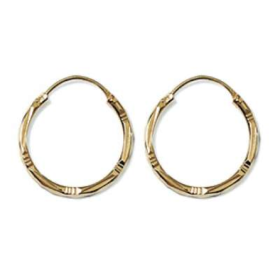 Hoop Earrings Martelées Gold plated 18k 20mm - Women