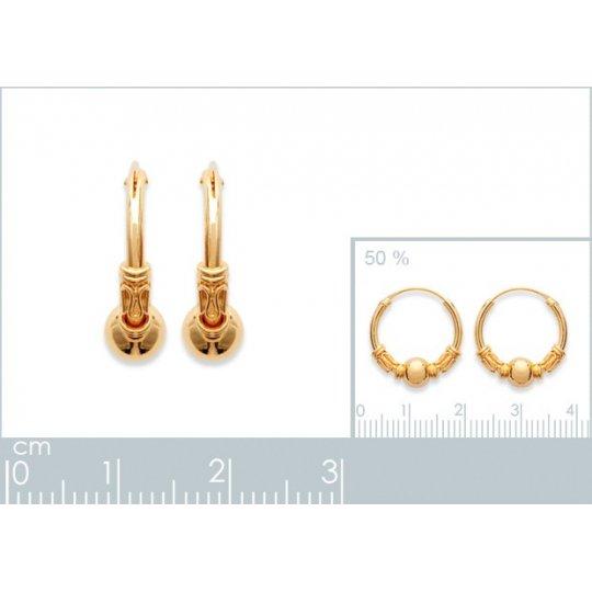 Hoop Earrings of Bali Gold...