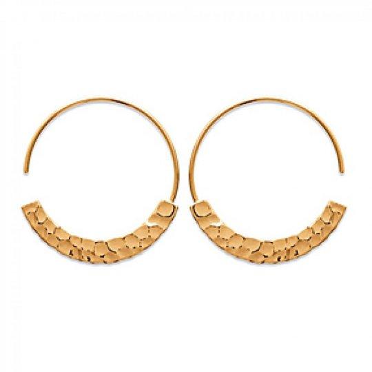 Hoop Earrings Ouvert Martelées Gold plated 18k 30mm - Women