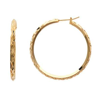 Hoop Earrings Martelées avec reflets Gold plated 18k 40mm...