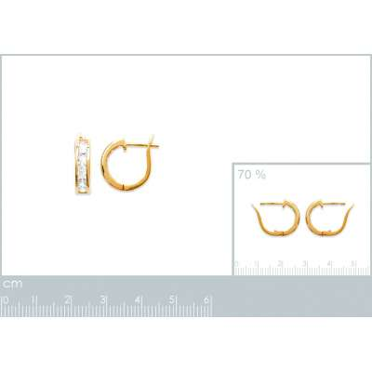 Hoop Earrings Strass Gold...