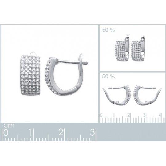 Hoop Earrings Strass Argent...