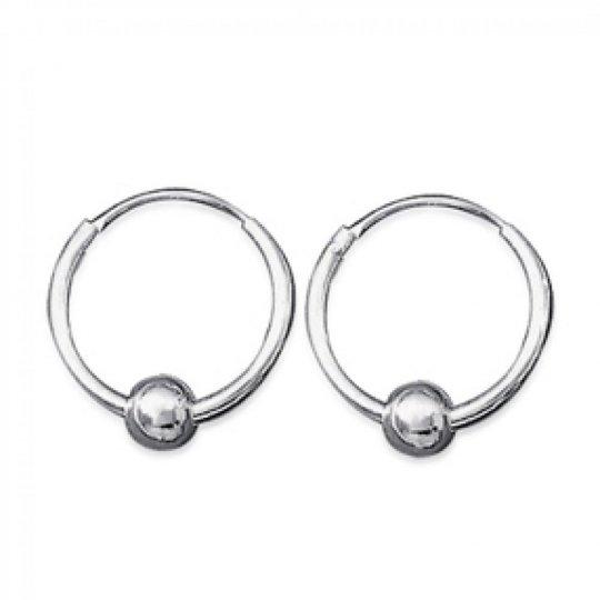 Hoop Earrings Ball  Argent pour for Men ou Women 14mm