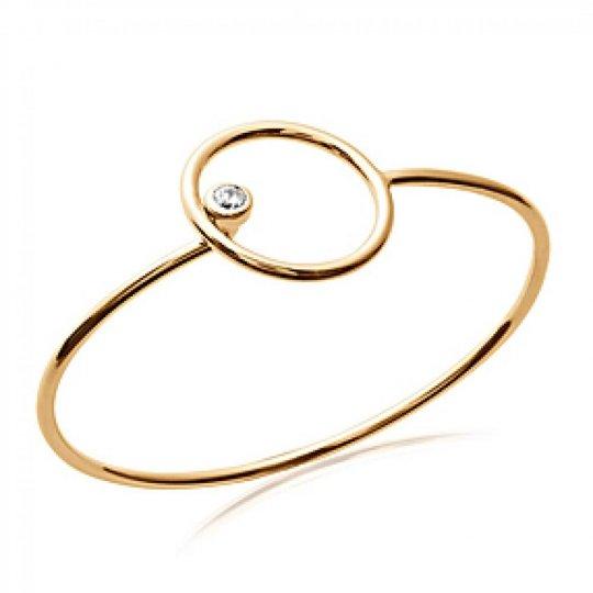 Jonc anneau cercle Plaqué...