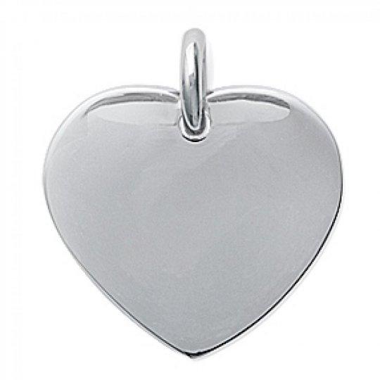 Pendants Plaque Heart  Engravable Acier 316L - Women