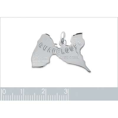 Pendentif GUADELOUPE Argent...