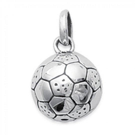Pendentif Ballon de football Argent pour Homme Femme