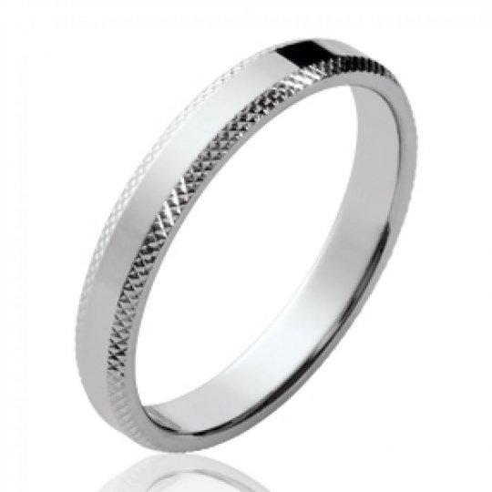 Ringe de mariage simple Argent Rhodié - Damen