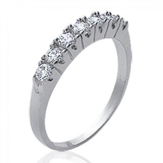 Ring jarretière Argent Rhodié - Zirconium - Ring de promesse