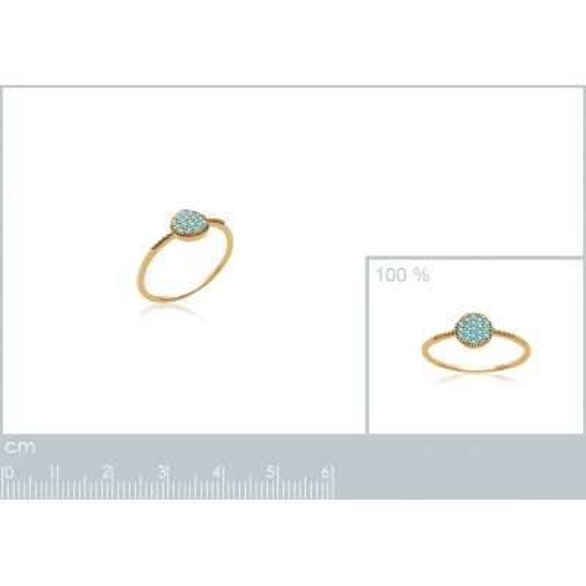 Ring Bleu turquoise fine...
