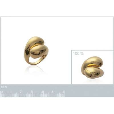 Grosse Ring Gold plated 18k...