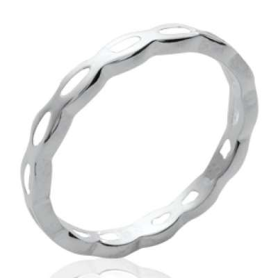 Wedding ring Engagement fine originale Argent - Women