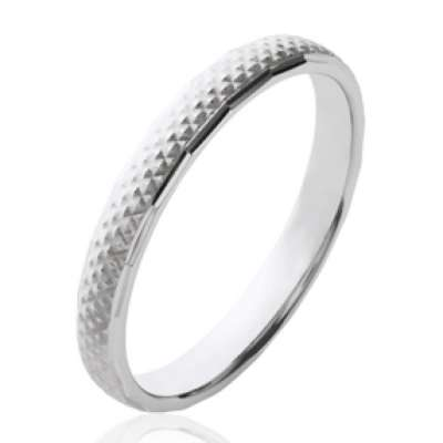 Ring de promesse simple Argent Rhodié - Women
