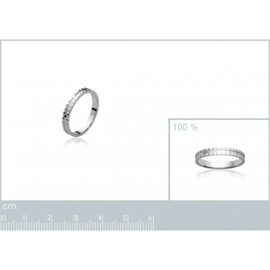 Ringe de mariage Argent Rhodié