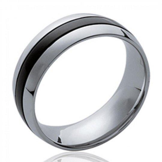 Ring Black Acier 316L - Ruthenium - pour for Men