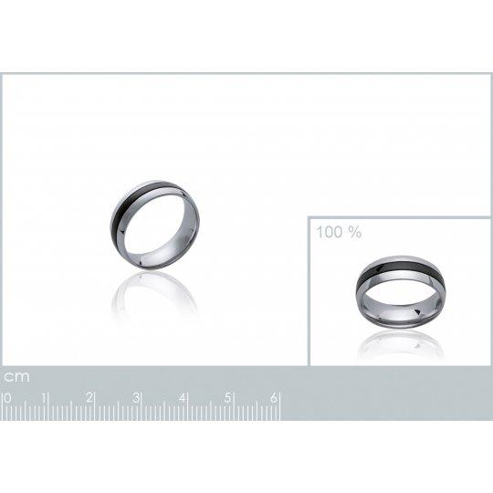 Ring Black Acier 316L -...