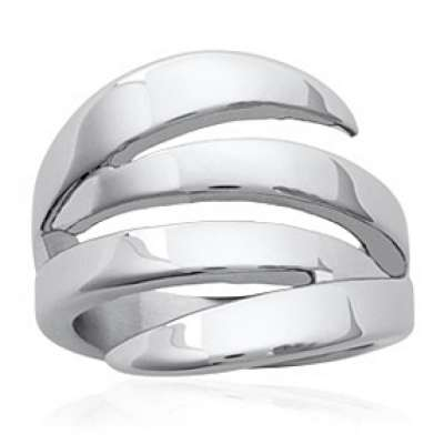 Bague large nature moderne...