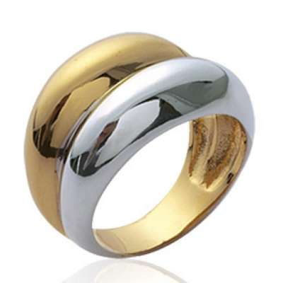 Grosse Ring dôme  Gold plated 18k - 62 64