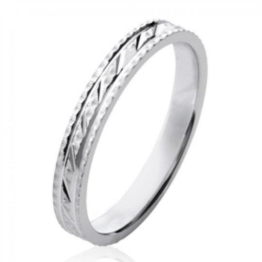 Ring de mariage Wedding ring Engagement originale Argent...