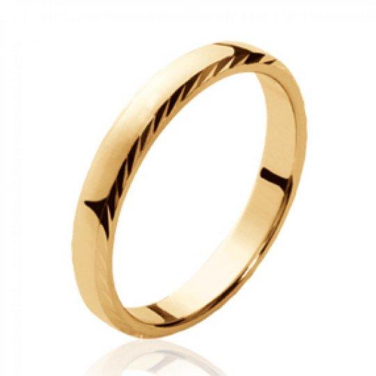 Ringe de mariage Memoirering simple Vergoldet 18k - Damen