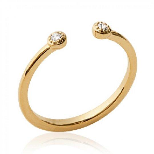 Ring Ouverte Gold plated 18k - Zirconium - Ring de...