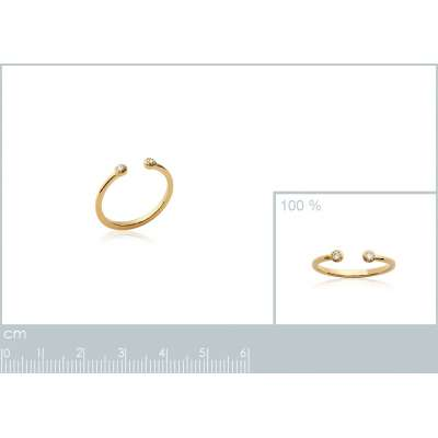 Ring Ouverte Gold plated...