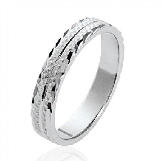 Bague de mariage originale Argent Rhodié - Alliance pour...