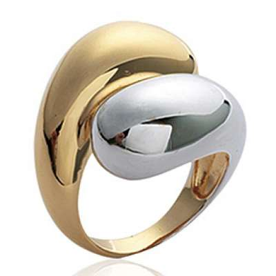 Grosse Anello Bicolore Placcato in oro 18k - Donna