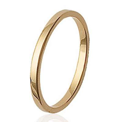 Wedding ring Engagement fine Engravable Gold plated 18k -...