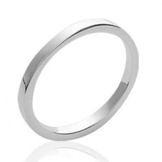 Wedding ring Engagement fil carré Argent - Ring de...