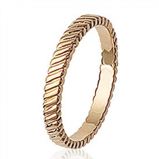 Wedding ring Engagement originale Gold plated 18k -...