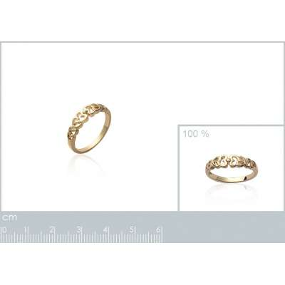 Ring Heart  Gold plated 18k...