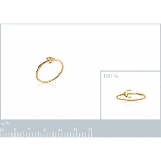 Ring Anchor marine Gold...