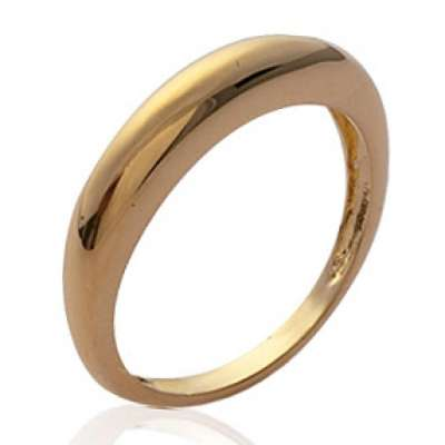 Anello dôme fine Placcato in oro 18k - Donna