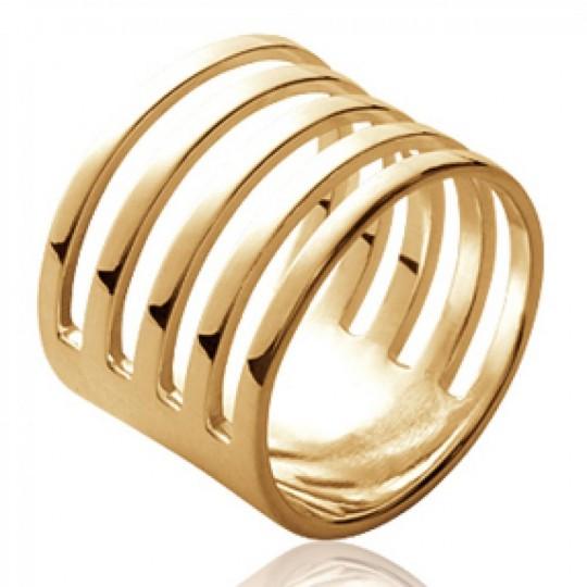 Ringe tube ajourée avec fentes Vergoldet 18k - Damen