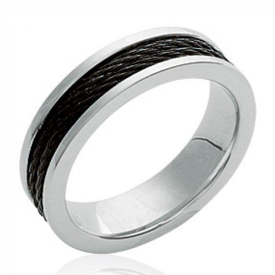 Ring Bangle Black Acier 316L - Ruthenium - for Men