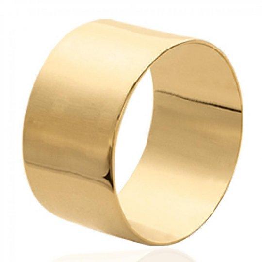 Ring tube lisse Gold plated 18k - Women