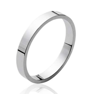 Ring plate Argent Rhodié pour for Men Women - Promesse...