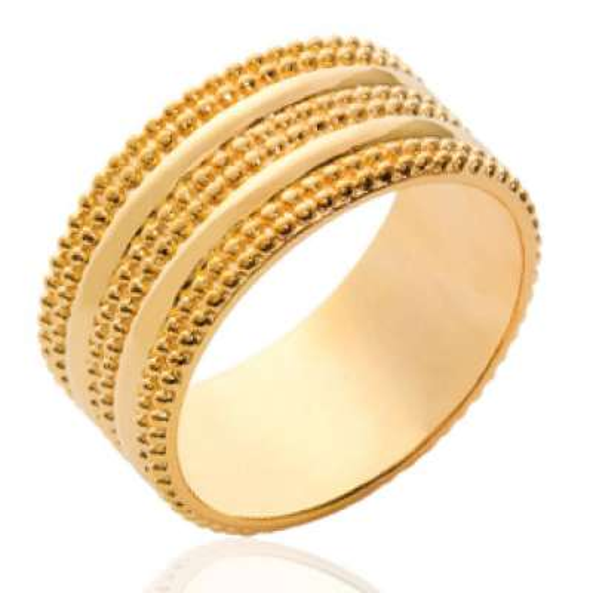 Ring tube fantaisie Gold...