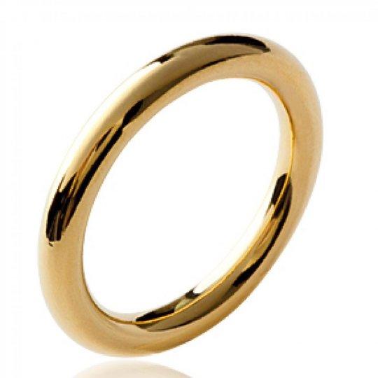 Bague anneau épais Plaqué...
