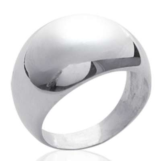 Grosse Ringe dôme Argent -...